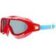 speedo Biofuse Rift Goggle Juniors Lava Red/Japan Blue/Smoke
